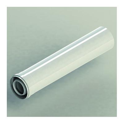 TUBO CALDERA NO CONDENSACIÓN Ø60/100 mm x 250 mm M/H Aluminio pintado en blanco